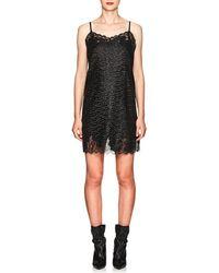 Robert Rodriguez Lace-trimmed Sequin Minidress - Black