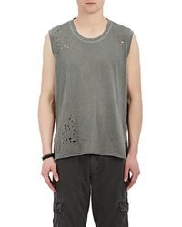 NSF - Distressed Cotton Muscle Tank - Lyst