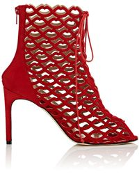 Giannico - Sofia Suede Ankle Booties - Lyst