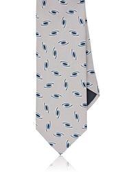 Barneys New York - Eye-print Silk Necktie - Lyst