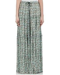 Chloé - Floral Crepe Maxi Skirt - Lyst