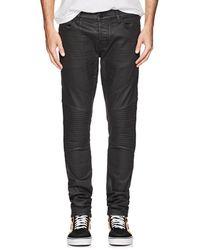 J Brand - Bearden Waxed Moto Jeans - Lyst