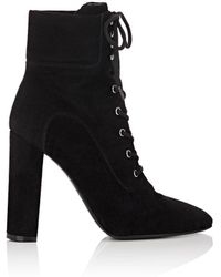 Barneys New York - Suede Lace-up Ankle Boots - Lyst