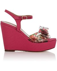 RED Valentino - Pvc & Canvas Platform - Lyst