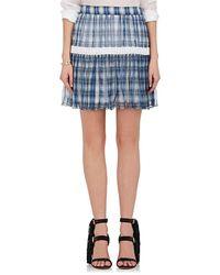 Chloé - Plaid Silk Georgette Miniskirt - Lyst