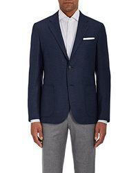 Barneys New York - Neat Wool-silk Two - Lyst