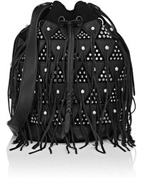 Jérôme Dreyfuss - Popeye Large Leather & Suede Bucket Bag - Lyst