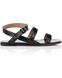 Alumnae - Mignon Patent Leather Ankle-wrap Sandals - Lyst