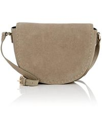 Barneys New York - Studded Suede Saddle Bag - Lyst