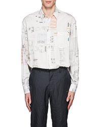 Vetements - Receipt-print Cotton Oversized Shirt - Lyst