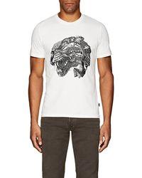 Just Cavalli - Cat-print Cotton T-shirt - Lyst