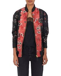 MM6 by Maison Martin Margiela | Floral Jacquard Bomber Jacket | Lyst