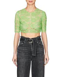 Jourden - Floral Lace Crop Top - Lyst