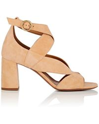 Chloé - Graphic Leaves Suede Sandals - Lyst