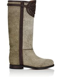 Cartujano España - Leather-trimmed Fur Knee Boots - Lyst
