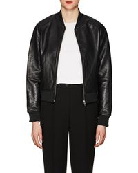 William Rast - Leather Bomber Jacket - Lyst