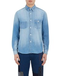 FDMTL - Denim Button-front Shirt - Lyst