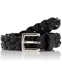 Barneys New York - Men's Braided Leather Belt - Lyst