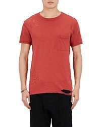 NSF - Distressed Cotton Jersey T - Lyst
