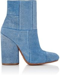 10 Crosby Derek Lam - Emery Suede Patchwork Ankle Boots - Lyst