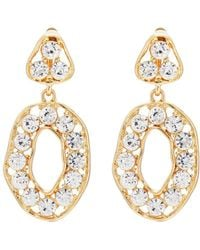 Kenneth Jay Lane - Crystal-embellished Drop Earrings - Lyst