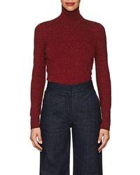 Victoria Beckham Mélange Stretch-jersey Turtleneck Sweater