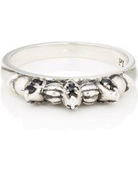Pamela Love - Black-spinel-embellished Thin Spike Ring - Lyst