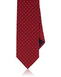 Barneys New York - Dotted Herringbone Silk-cotton Necktie - Lyst
