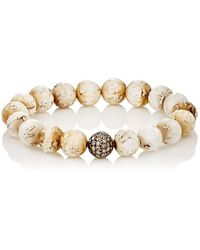 Devon Page Mccleary | White Diamond & Woolly Mammoth Beaded Bracelet | Lyst