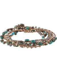 Feathered Soul - Turquoise & Labradorite Beaded Necklace/wrap Bracelet - Lyst