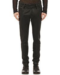 Ann Demeulemeester - Stretch-leather Skinny Jeans - Lyst