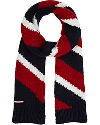 Moncler Gamme Bleu - Men's Diagonal-striped Stockinette-stitched Scarf - Lyst
