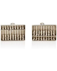 The Antique Jewel Box - Working Abacus Sterling Silver Cufflinks - Lyst