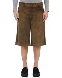 Fendi - Suede Wide Shorts - Lyst