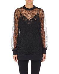 Givenchy - Women's Lace Sweatshirt - Lyst