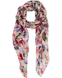 Philosophy di Alberta Ferretti - Women's Abstract-floral Silk Headscarf - Lyst