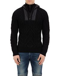 Ralph Lauren Black Label - Hooded Cable - Lyst