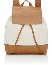 Barneys New York Canvas & Leather Backpack
