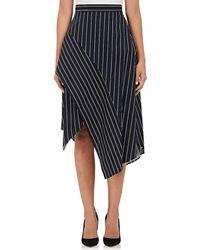 N Nicholas - Striped Poplin Skirt - Lyst