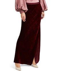 Nili Lotan - Aya Velvet Maxi Skirt - Lyst
