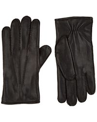 Barneys New York Fur-lined Leather Gloves