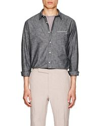 Officine Generale - Cotton Chambray Shirt - Lyst