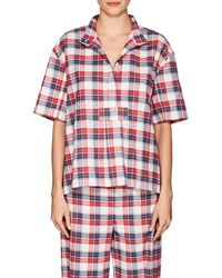 The Sleep Shirt - Plaid Cotton Flannel Pajama Top - Lyst