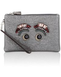 Anya Hindmarch - Eyes Leather Zip Pouch - Lyst