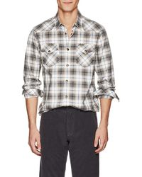 Tomas Maier - Checked Cotton Poplin Shirt Size S - Lyst