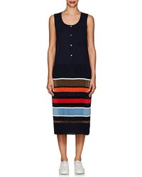 Public School - Jama Striped Pleated Crepe Sleeveless Dress - Lyst