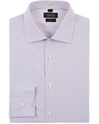 Barneys New York - Checked Cotton Poplin Dress Shirt - Lyst
