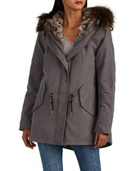 Barneys New York - Fur-trimmed & Fur-lined Cotton Jacket - Lyst