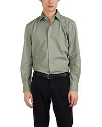Piattelli Cotton Twill Shirt - Green