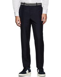 Valentino - Striped Mohair-wool Straight Trousers - Lyst